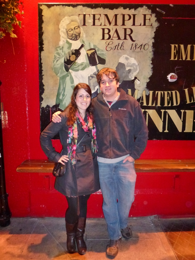 Outside of Temple Bar in Dublin during my trip to Ireland in 2012